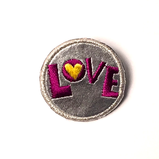 LOVE VEGAN LEATHER PATCH PIN