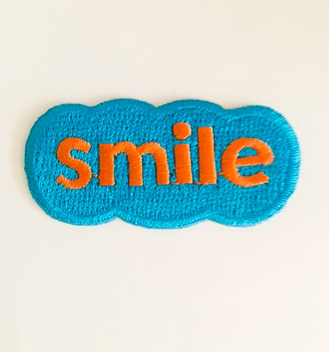 SMILE STICK-ON FABRIC PATCH