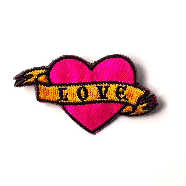 LOVE TATTOO PATCH PIN