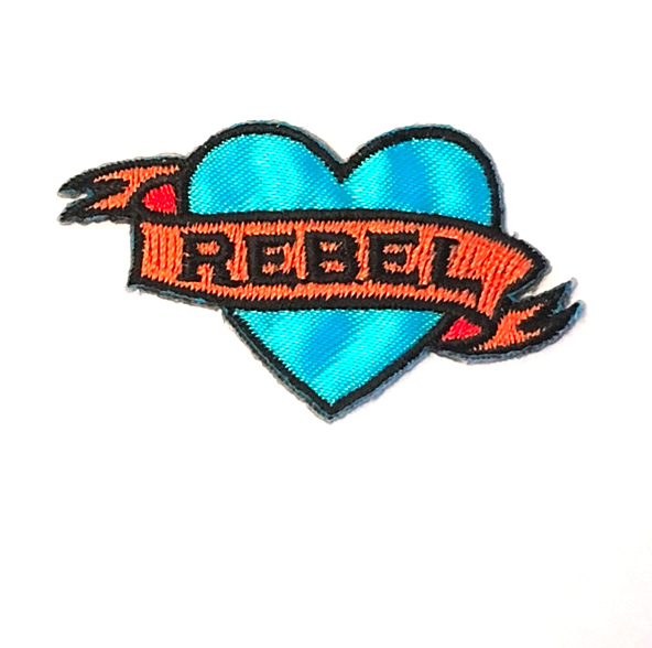 REBEL TATTOO STICK-ON FABRIC PATCH