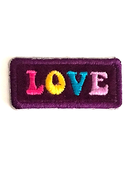 LOVE STICK-ON FABRIC PATCH