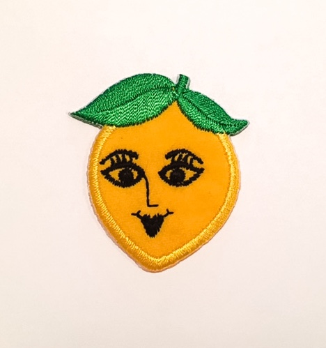 LADY LEMON STICK-ON FABRIC PATCH