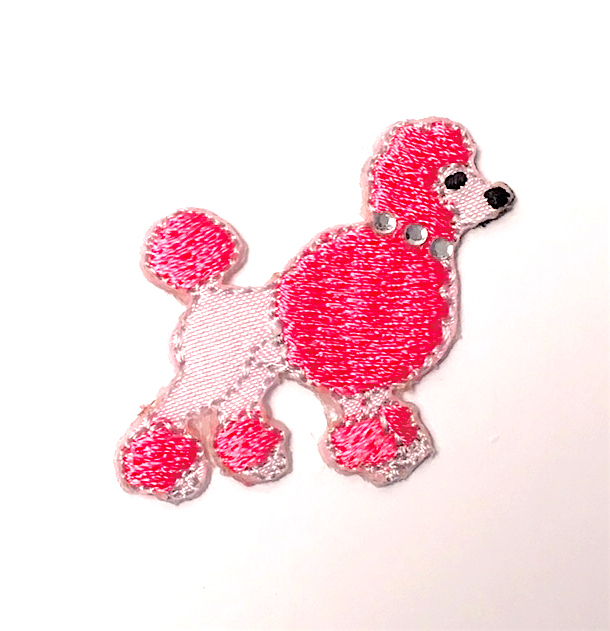 PEGGY POODLE STICK-ON FABRIC PATCH