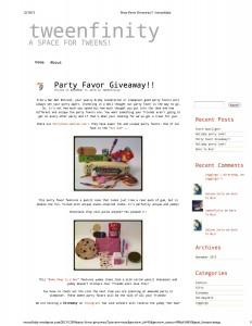 Tweenfinity Blog #1